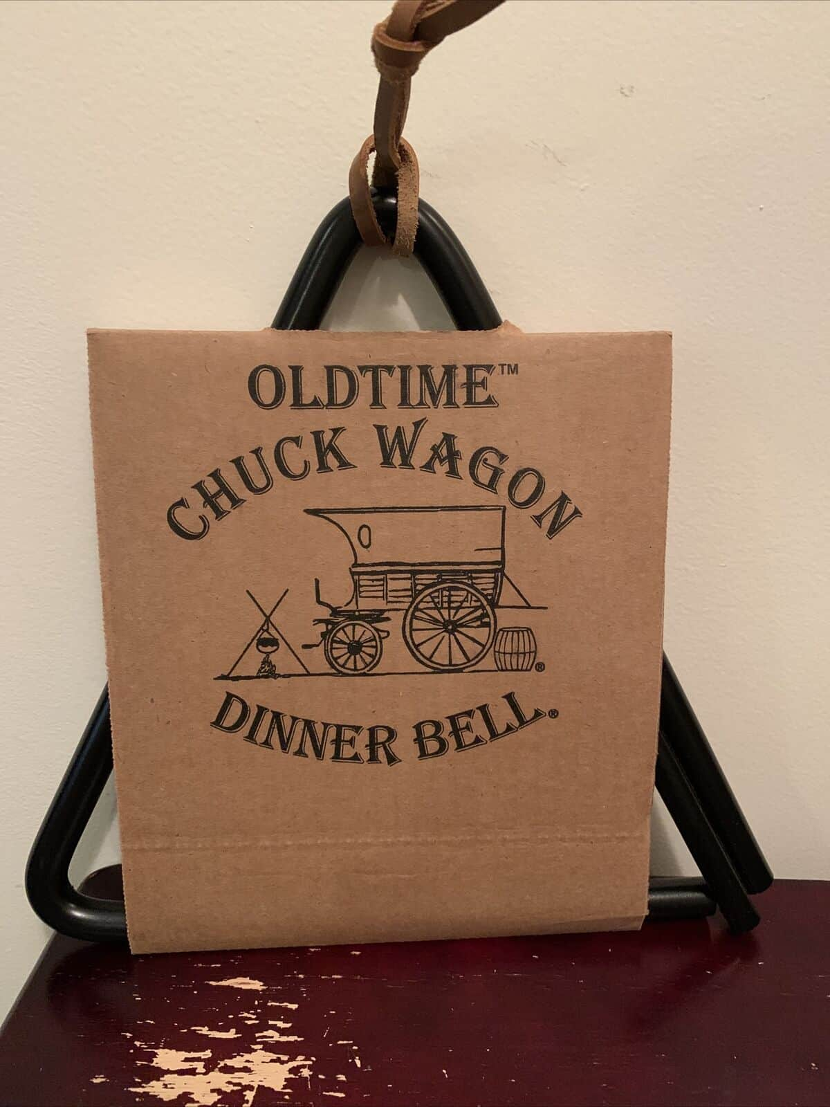 Old Time Chuck Wagon Dinner Bell - 12 inches