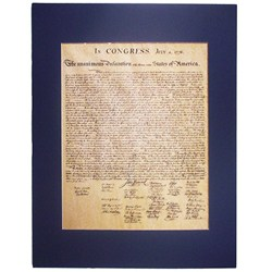 Declaration of Independence - Matted