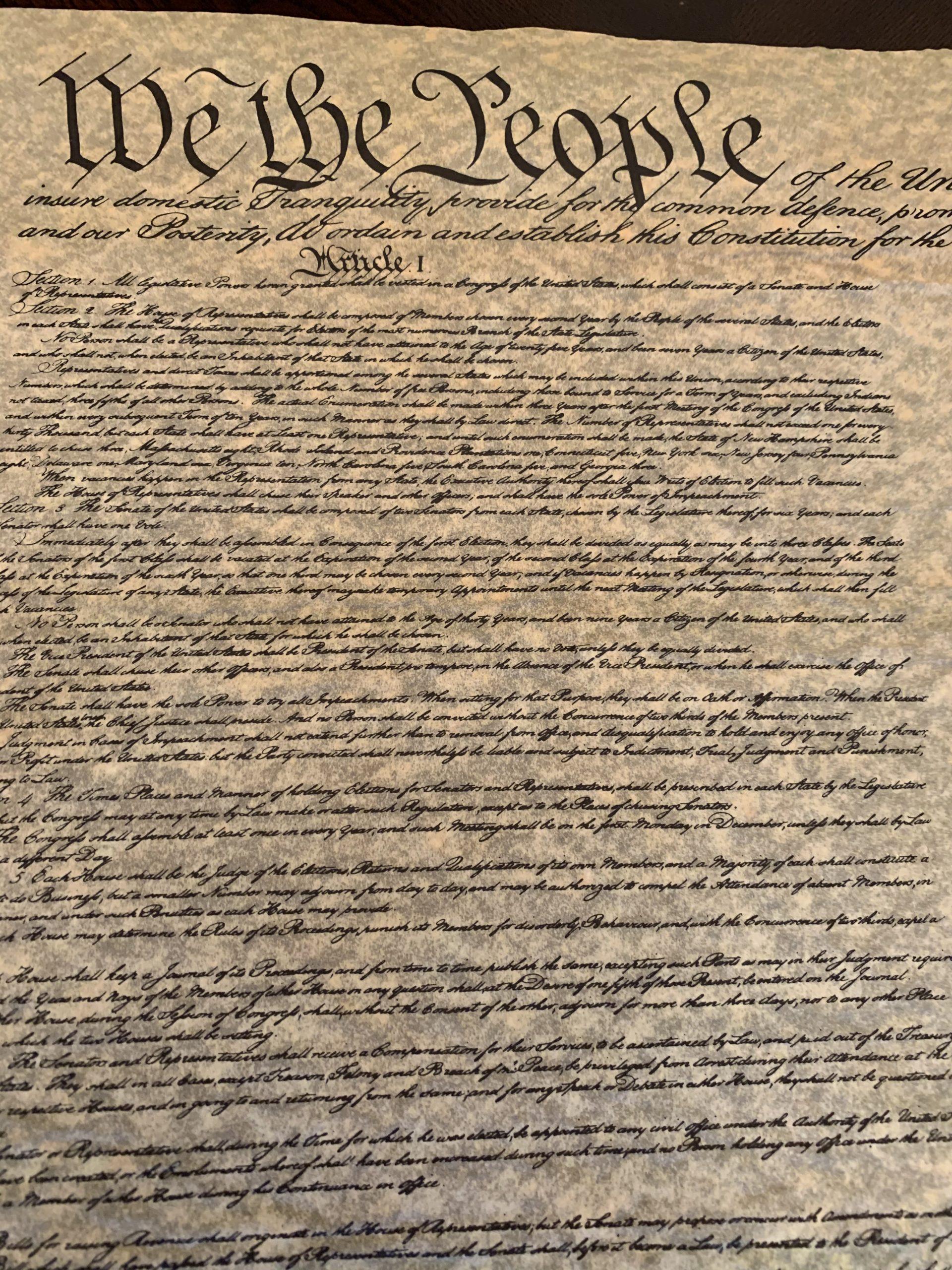 Constitution Parchment Replica Poster - 23W x 29H