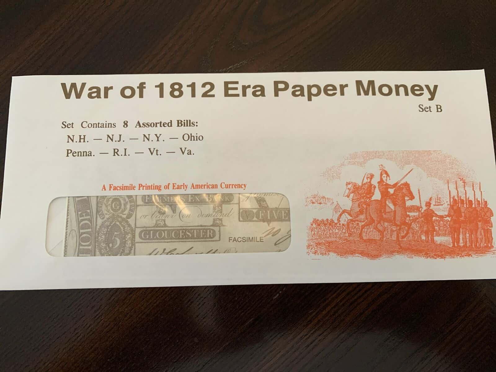 War of 1812 Replica Facsimiles - Set B