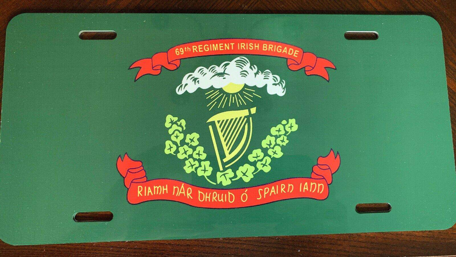 69th Regiment Irish Brigade License Plate