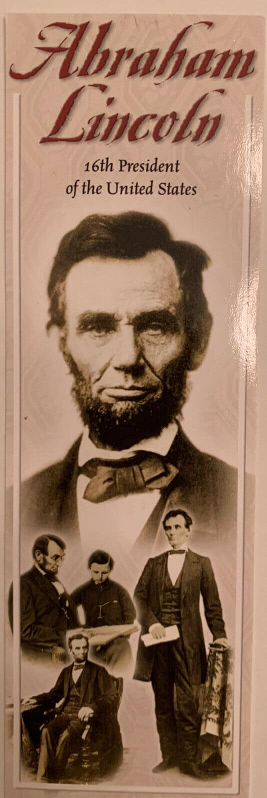 Lincoln Bookmark with Gettysburg Address on back