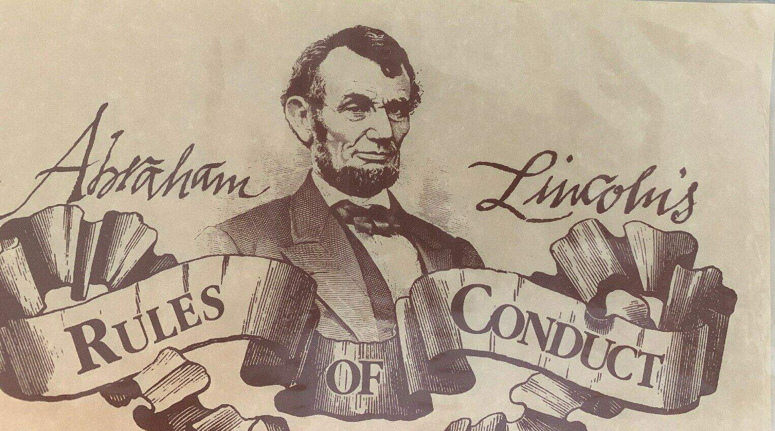 Abraham Lincoln's Rules of Conduct - Parchment Poster