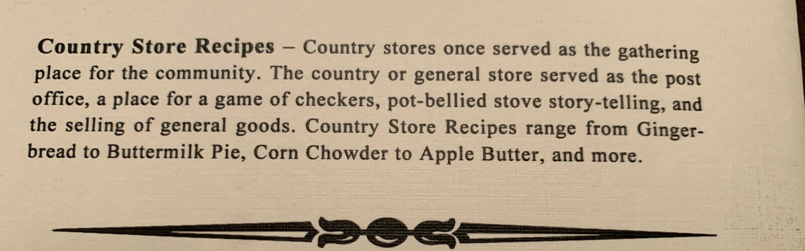 Country Store Recipes