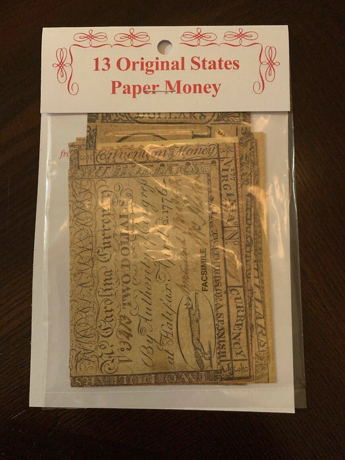 13 Original Colonies Facsimiles