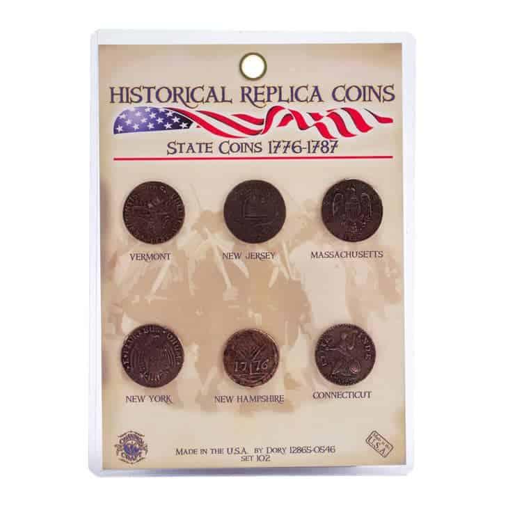 State Coin replicas 1776-1787