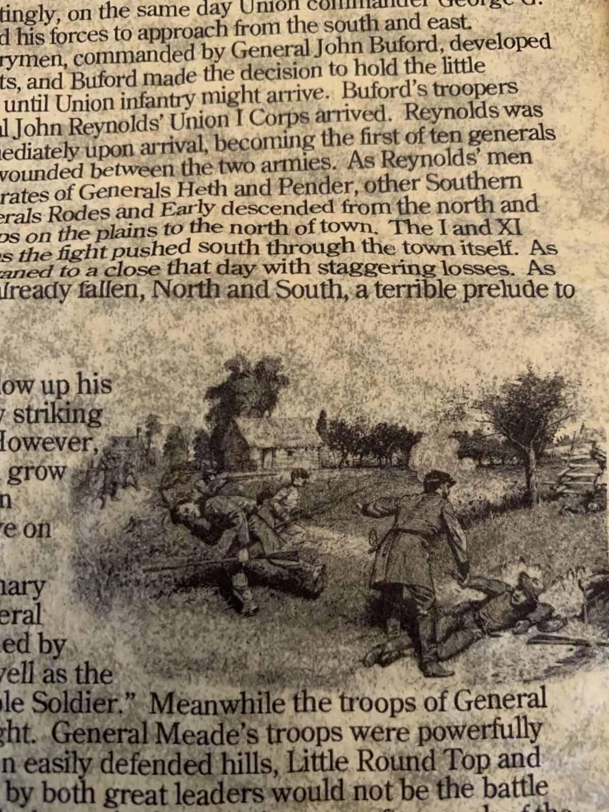 Gettysburg Battlefield Map - Parchment