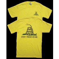 Don't Tread on Me Yellow Crew T-Shirt