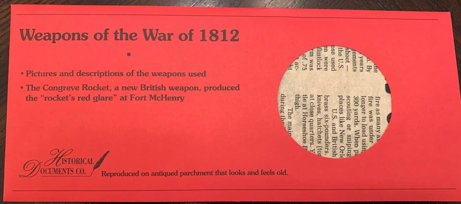 Weapons Of The War of 1812