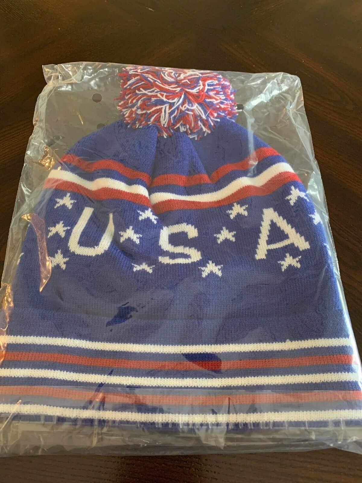 Patriotic - U.S.A. Red, White & Blue Winter Beanie
