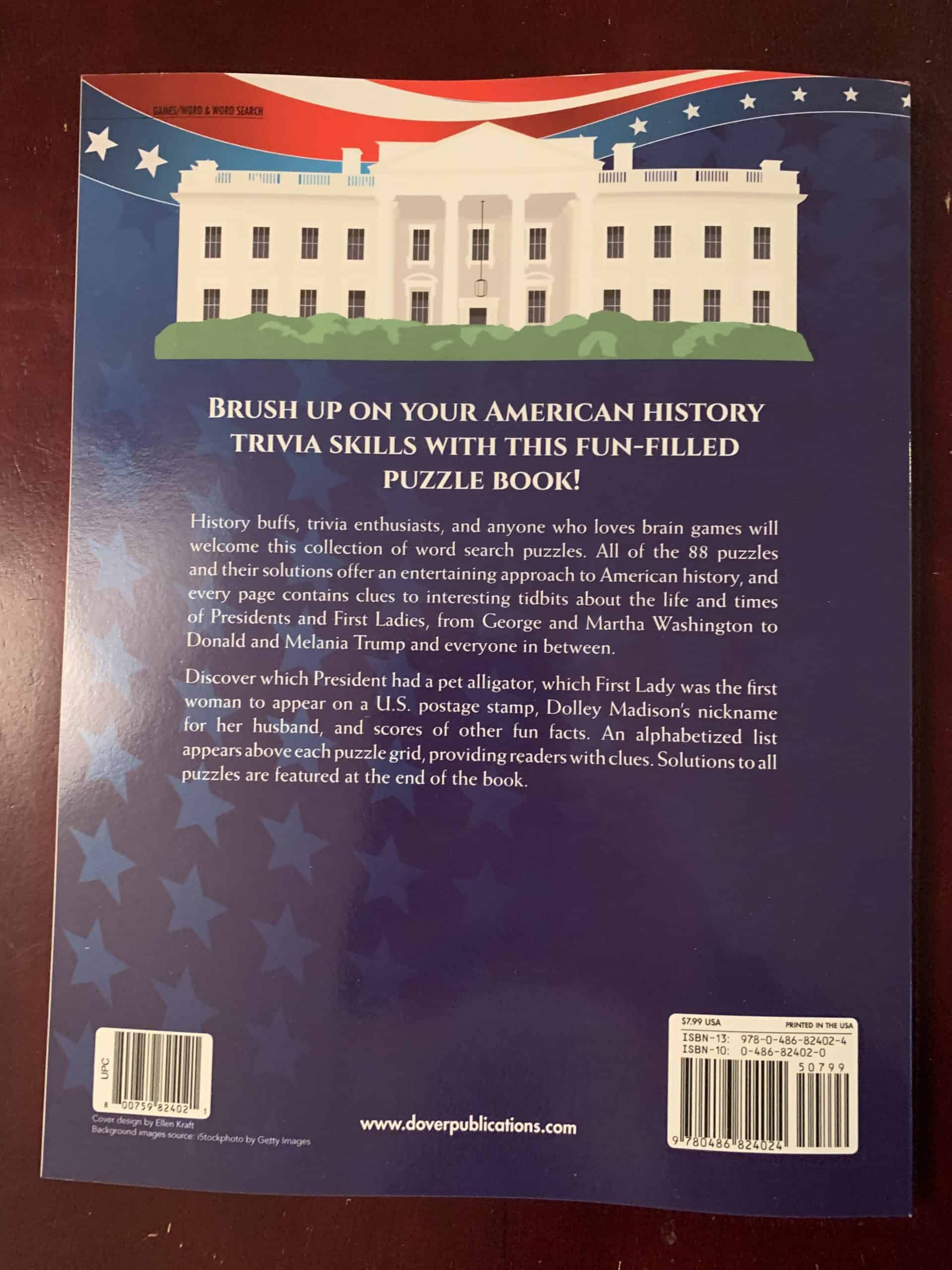U.S. Presidents and First Ladies Word Search Puzzles