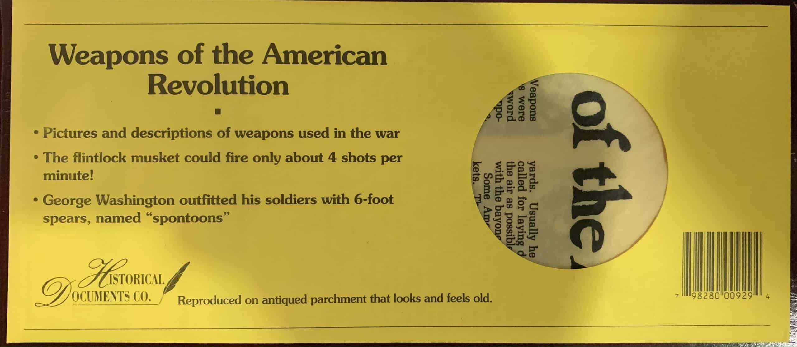 Weapons of the American Revolution- Parchment
